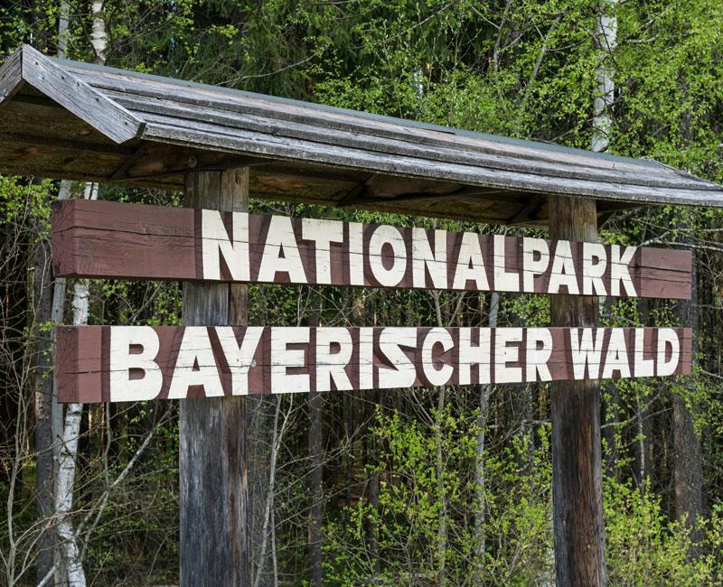 Nationalpark Bayerischer Wald Schild